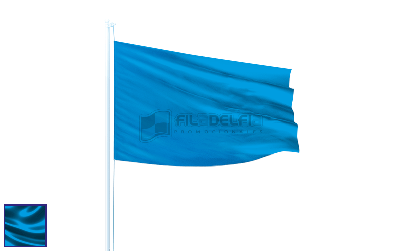 Banderas promocionales con colores personalizados
